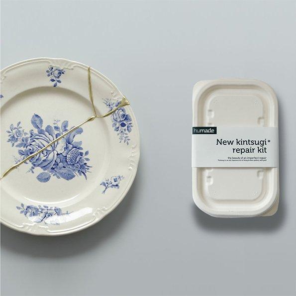 Porzellankleber mit Beispielteller