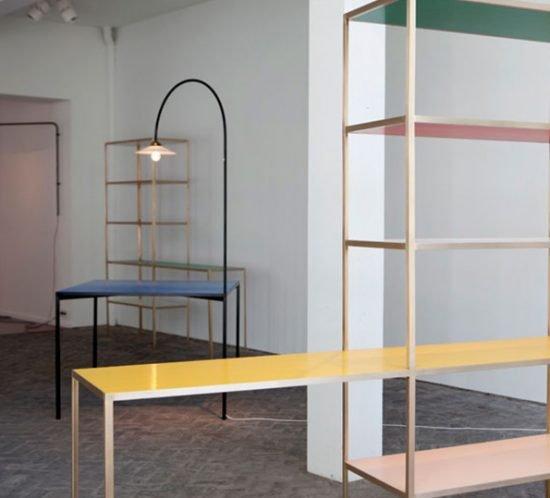 Regal Tisch und Lampe von Muller van Severen