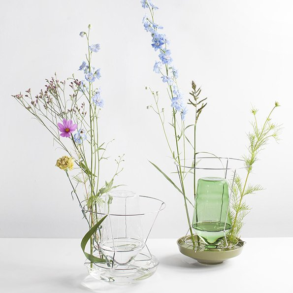 Chris Kabel f Valerie Objects Hidden Vase green clear