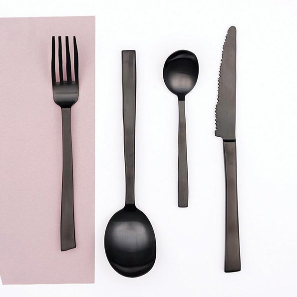 Maarten Baas f Valerie Objects cutlery black