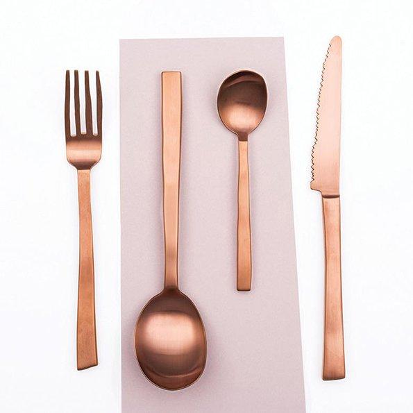 Maarten Baas f Valerie Objects cutlery copper
