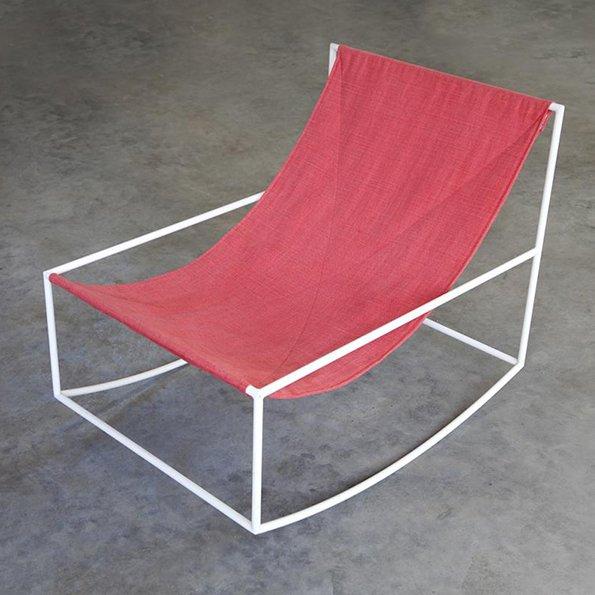 Muller van Severen f Valerie Objects rocking chai white red