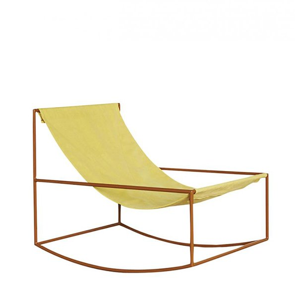 Muller van Severen f Valerie Objects rocking chair brown yellow
