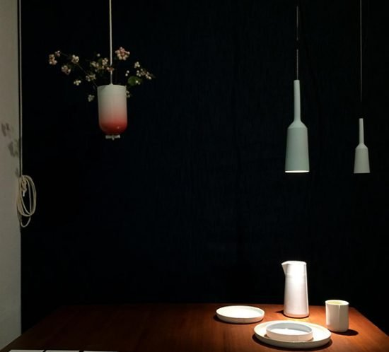 Lamp and Socket und Spatial Vase von Studio Lotte Douwes