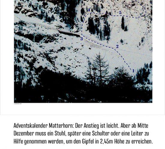 Anna von Gwinner Adventskalender Matterhorn unten
