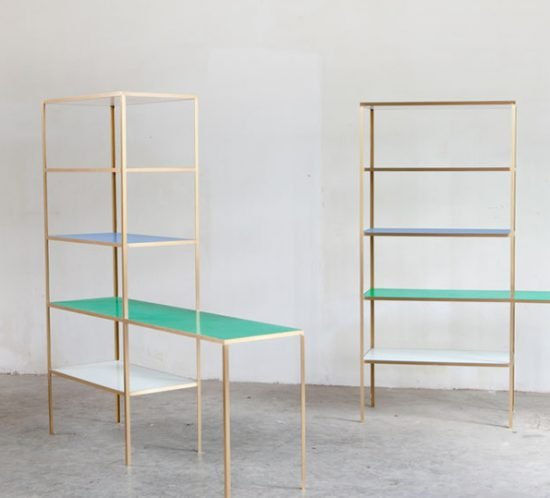 Muller van Severen rack+table-brass_blue