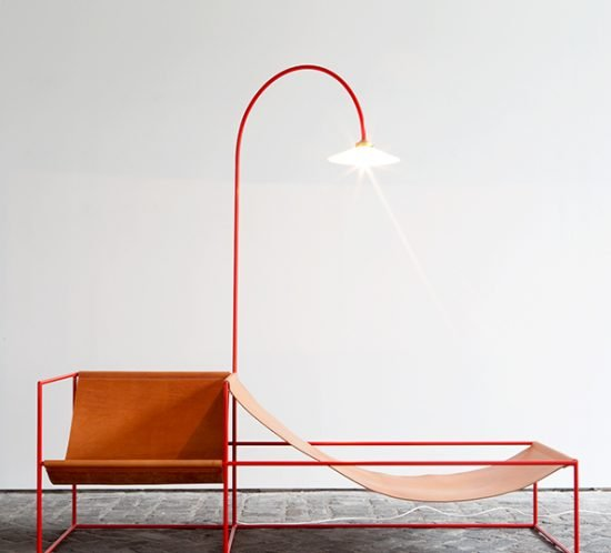 Muller van Severen seat+lamp red