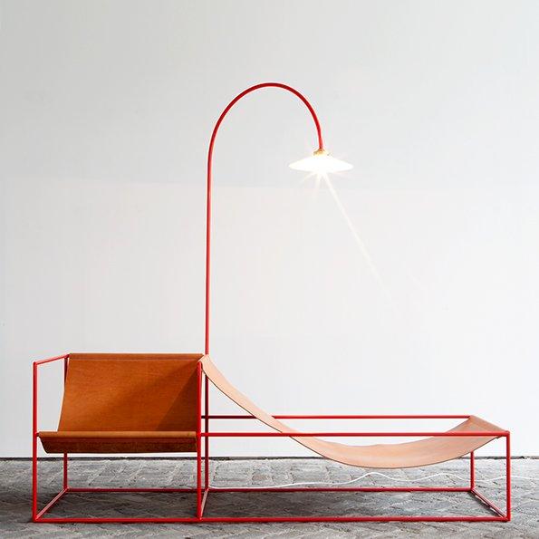 Muller van Severen seat+lamp red