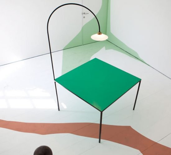 Muller van Severen table+lamp green