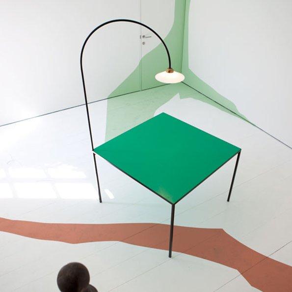 Muller van Severen table+lamp green