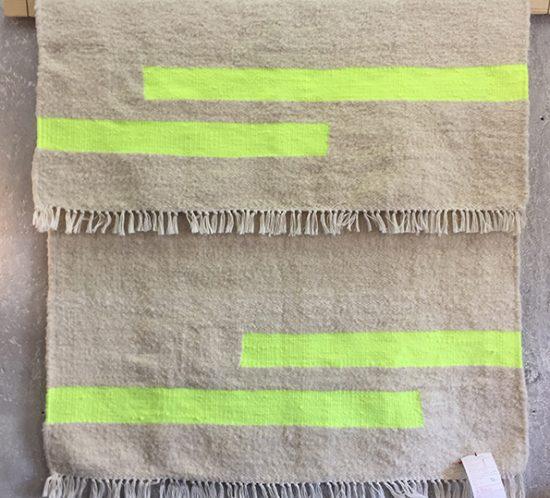 Teppich neongelb