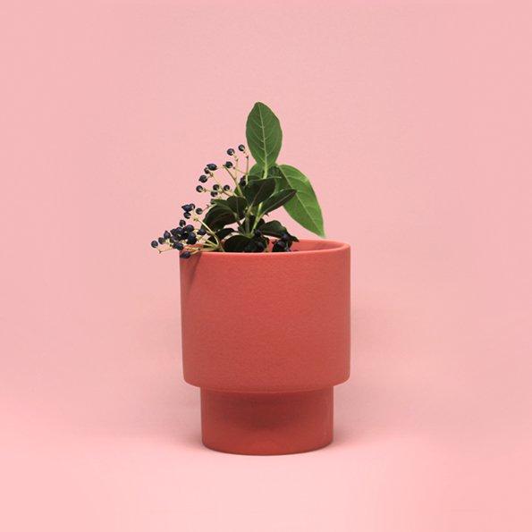 Vase rot von Romina Gris
